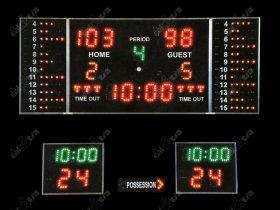 Světelná tabule - časomíra BASKETBALL K11.S ( i ostatní halové sporty )