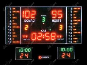 Světelná tabule - časomíra BASKETBALL K11.M ( i ostatní halové sporty )