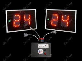 Světelné tabule - časomíry Basketball * útočný čas * TIMER 24s - aut. klakson