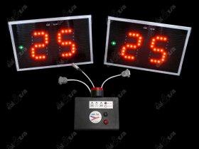 Světelné tabule - časomíry Korfbal * útočný čas * TIMER 25s - aut. klakson