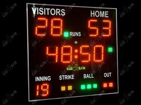 Světelná časomíra - tabule Baseball - Softball II. (dálkové ovl.)