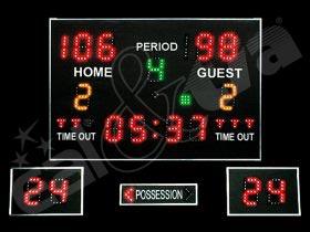 Světelná tabule - časomíra BASKETBALL K6.SADA ( i ostatní halové sporty )