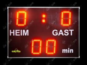 Football Scoreboard - Fussball-Lichttafel DERBY® Medio (program, remote control)