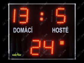 Fotbalová světelná tabule - časomíra DERBY® BASIC 19 Q1-light (dálkové ovl.)