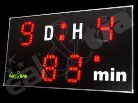 Světelná tabule - časomíra Fotbal DERBY® STANDARD 9 Q1-light (dálkové ovl.)