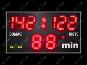 Světelné tabule - časomíry RAGBY * RUGBY (185x100cm, číslice 32cm)