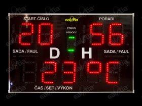 DERBY® Genio QR 26/199 * Světelná časomíra pro požární sport, fotbal a další