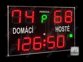 Světelná časomíra - tabule fotbal, halové sp., tenis, a další * DERBY® Genio99 GPS