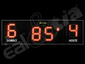 Světelné tabule - časomíry Fotbal DERBY® MAXI 19 Q1 * 365x110 cm (dálkové ovl.)