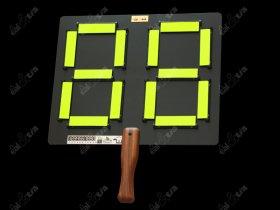 Střídací mechanická tabule - fotbal HANDY s rukojetí