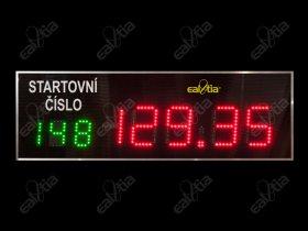 Hasičská časomíra HASI L26 - požární sport - světelná tabule * reálný čas * teplota