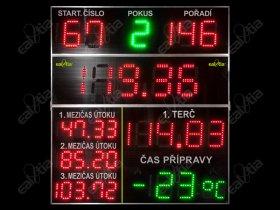 Hasiči * Požární sport - časomíra HASI QR PRO12 - světelná tabule (i další sporty)
