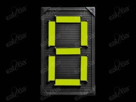 Atletický ukazatel mechanický - jednočíselný, jednostranný, žlutý