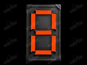 Atletický ukazatel mechanický - jednočíselný, jednostranný, oranžový