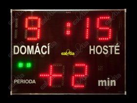 Světelná fotbalová tabule - časomíra DERBY® Medio 19 Q4.P2plus