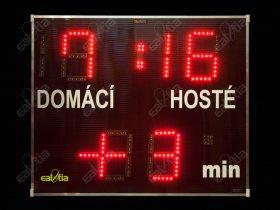 Světelná fotbalová tabule - časomíra DERBY® Basic 19 Q4plus