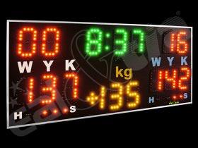 Světelná sportovní tabule - časomíra JUDO