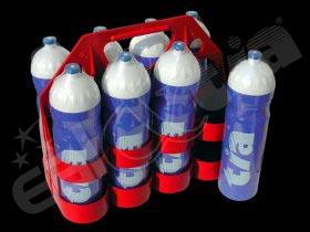 Sportovní lahve 1000ml - 8 ks s nosičem