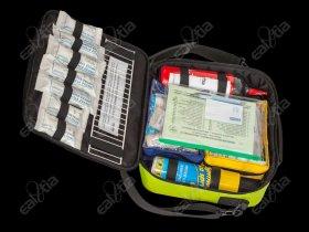 Lékárnička ZDRAVOTNÍK-V1 (vybavená) neonová * První pomoc * First Aid