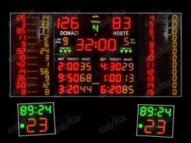 Světelná časomíra - tabule MULTI-PRO K12 QR.GPS* basket, házená, volejbal, florbal, futsal a další