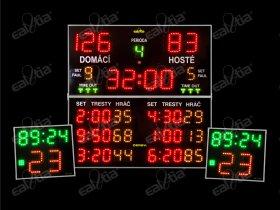Světelná tabule - časomíra TIASPORT K10 * házená, basketbal, volejbal, florbal ..