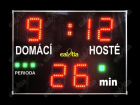 Světelná tabule - časomíra Fotbal DERBY® MEDIO Q3.P (dálkové, program, periody)