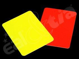 Karty - rozhodčí (pár - žlutá, červená)