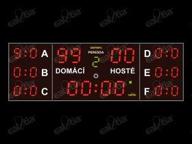 DERBY® Sette Sala 99P/GPS - fotbalová tabule/časomíra - 7x skóre, 300x100cm