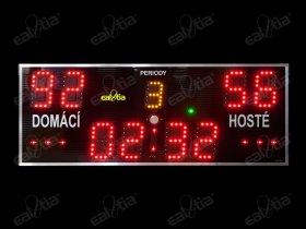 Světelná tabule - časomíra SPORT VARIO K.4 - basketbal, házená, florbal, futsal ..
