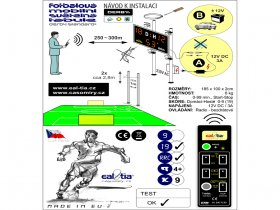 Football Scoreboard - Fussball-Lichttafel DERBY® STANDARD19 (program, remote c.)