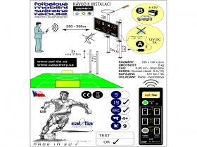 Světelné tabule - časomíry Fotbal DERBY® STANDARD 19 Q1-light (dálkové ovl.)
