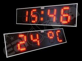 Světelná tabule - časomíra TIME - čas X tepl. vzduchu