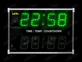 Světelný ukazatel - časomíra: Reálný čas * Teplota * Odpočet- TTC.12 RC_GPS